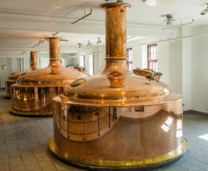 Gärbehälter beim Bierbrauen